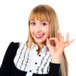 Businesswoman showing OK — Stock Photo #3186711