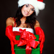 Girl with a present — Stock Photo #3187413