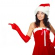 Girl dressed as Santa — Stock Photo #3187657