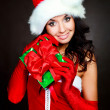 Girl with a present - Stockfoto