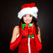 Girl with a present — Stock Photo #3189845