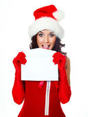 Pretty girl with an envelope — Stock Photo