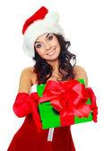 私たちにプレゼントを与える少女 — ストック写真
