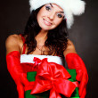 Girl with a present - Stock Photo