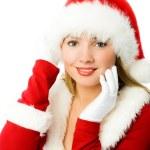 Beautiful girl dressed as Santa — Stock Photo #3190228