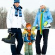 Royalty-Free Stock Photo: Family ice skating