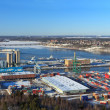 Stockholm panorama port — Stock Photo