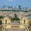 Trocadero and La Defence background - Stock Photo
