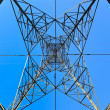 High voltage tower — 图库照片