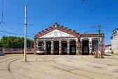 Tram depot — Stock Photo