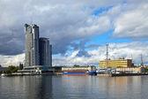 Port in Gdynia, Poland. — Stock Photo