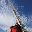 Fire truck ladder — Stock Photo