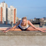 Blond gymnastic girl — Stock Photo #3073751