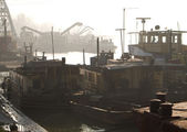 Industriella fartyg — Stockfoto