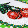 Fragment of beadwork — Stock Photo