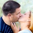 Love kissing couple — Stock Photo