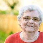 Senior woman portrait — Stock Photo