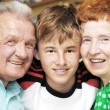 Grandparents with grandson — Stock Photo #3480314