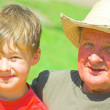 Grandfather with grandson — Stock Photo