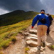 Stock Photo: Mountains hiking trail