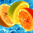 Stock Photo: Fresh citrus background