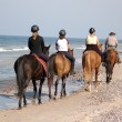 Stock Photo: Beach horse-riding