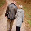 Couple walk — Stockfoto