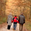 Family walk — Stockfoto