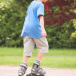 Roller young boy — Stock Photo
