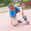 Roller young boy — Stock Photo #3485270
