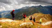 Bouřlivá krajina hory — Stock fotografie