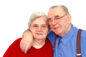 Elderly happy couple — Stock Photo