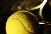 Tennis equipment — Stockfoto