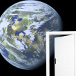 Door to new world. - Foto de Stock