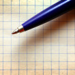 Pen on empy piece of paper. — Stock Photo