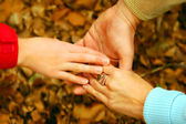 Family hand together — Stock Photo