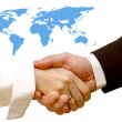 Agreement handshake — Stockfoto