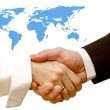Agreement handshake — Stock Photo