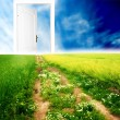 Door to new world — Stock Photo