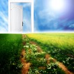 Tür zu neuen Welt — Stockfoto