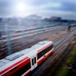 Stock Photo: Fast train with motion blur