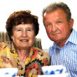 Happy smiled senior couple — Stock Photo #3510224
