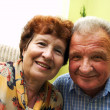 Happy smiled senior couple — Stock Photo #3510225
