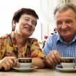 Happy smiled senior couple - Stock Photo