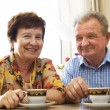 Happy smiled senior couple — Stock Photo #3510230