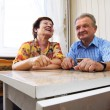 Royalty-Free Stock Photo: Happy smiled senior couple