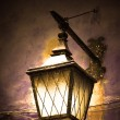 Street lamp shining — Stock Photo