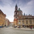 Stock Photo: Prague. Malostranske square, St. Nicholas Church