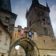 Prague. Charles bridge, Mala Strana gate — Stock Photo