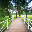 Bridge in charming park - Stock Photo